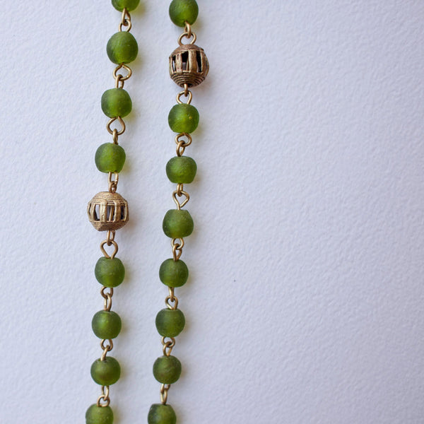 Bottle Bead Brass Strand