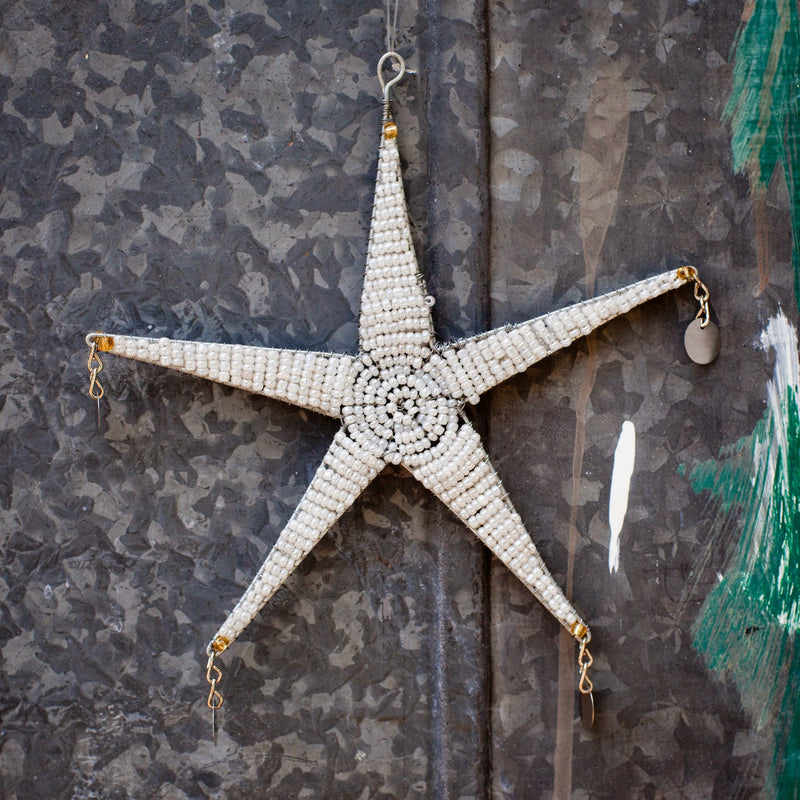 Shanga Star Ornament - Kenyan materials and design for a fair trade boutique