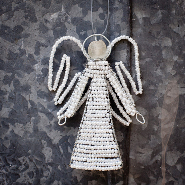 Beaded Angel Ornament - Kenyan materials and design for a fair trade boutique