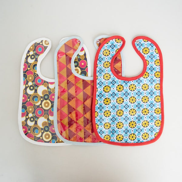 Kitenge Baby Bib - Kenyan materials and design for a fair trade boutique