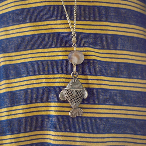 Fish Pendant Necklace - Kenyan materials and design for a fair trade boutique