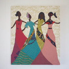 Amani Sisters Wall Hanging - Kenyan materials and design for a fair trade boutique