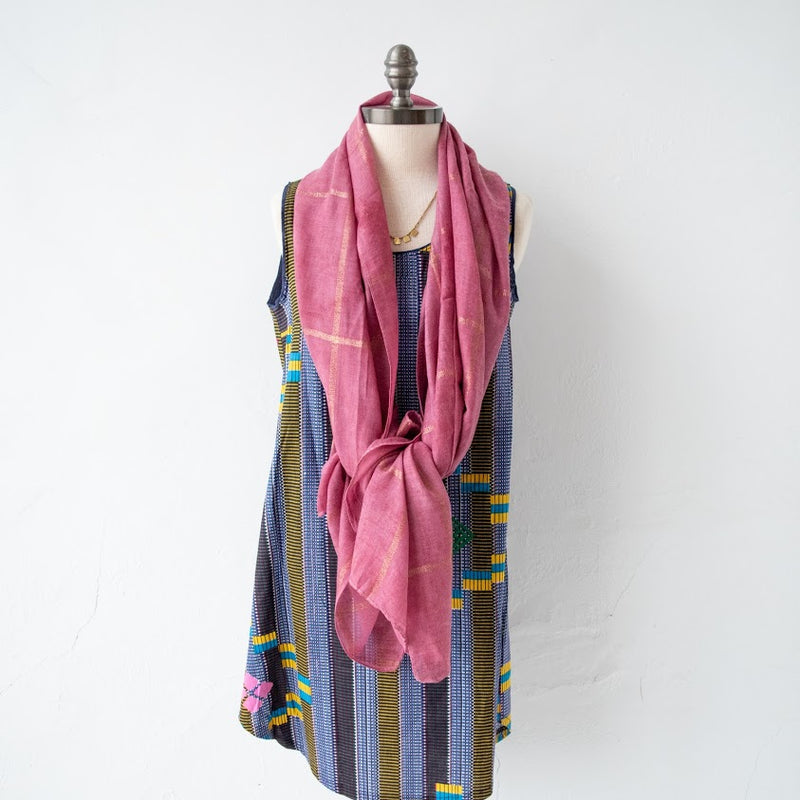 Amani Path Scarf - Kenyan materials and design for a fair trade boutique