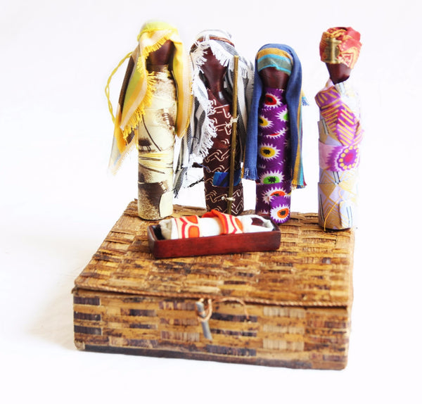 Nativity Peg Set - Kenyan materials and design for a fair trade boutique