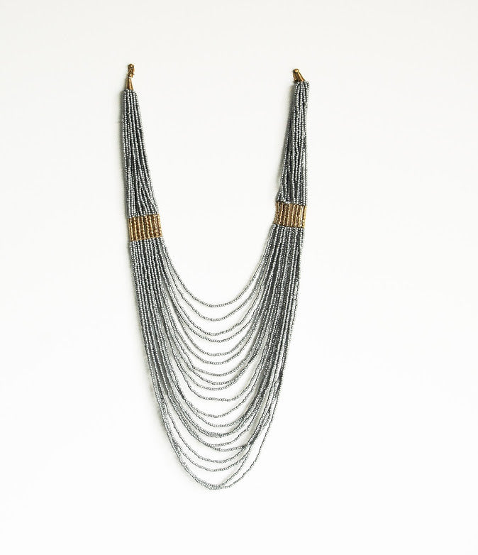 Maasai Classic Necklace - Kenyan materials and design for a fair trade boutique