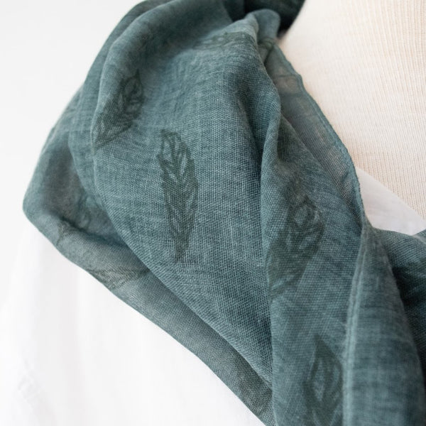 Sankofa Feather Scarf - Kenyan materials and design for a fair trade boutique