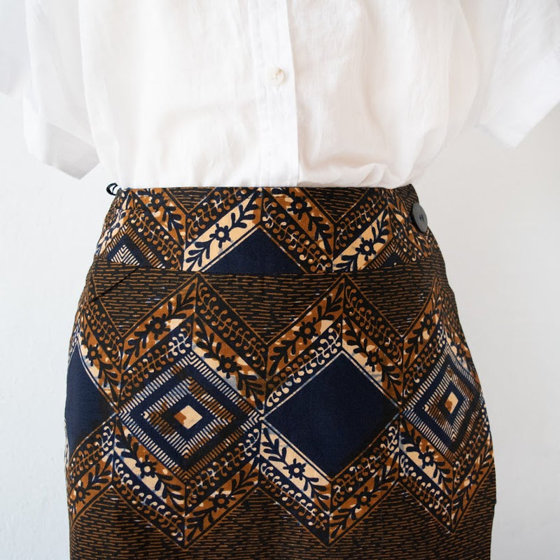 Simple Wrap Skirt - Kenyan materials and design for a fair trade boutique