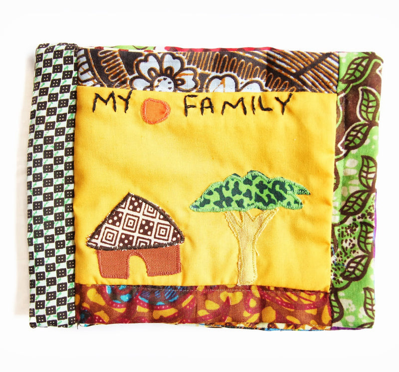 Baby Album - Kenyan materials and design for a fair trade boutique