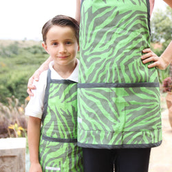 Zebra Apron - Kenyan materials and design for a fair trade boutique