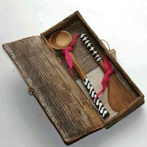 Knife and Sugar Spoon Set - Kenyan materials and design for a fair trade boutique