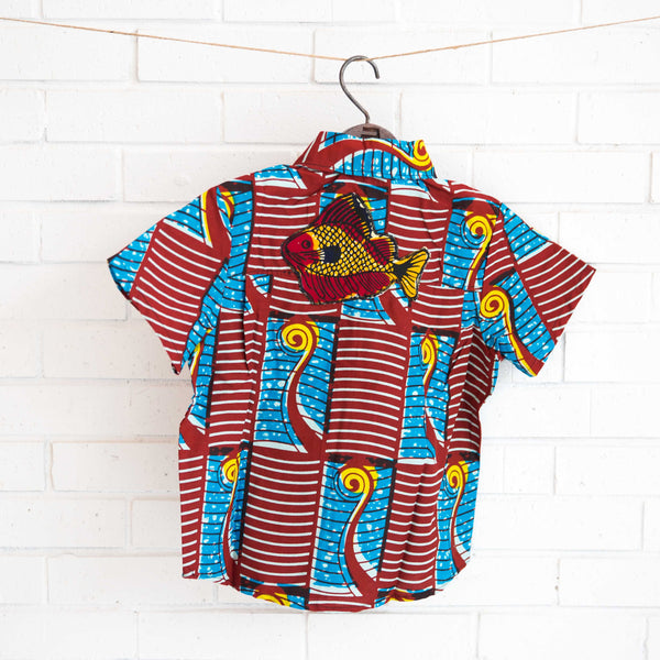 Boy's Button-Down Shirt - Kenyan materials and design for a fair trade boutique