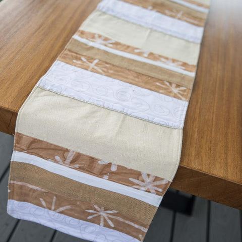 White Traditional Table Runner