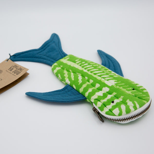 Shark Pencil Case - Kenyan materials and design for a fair trade boutique