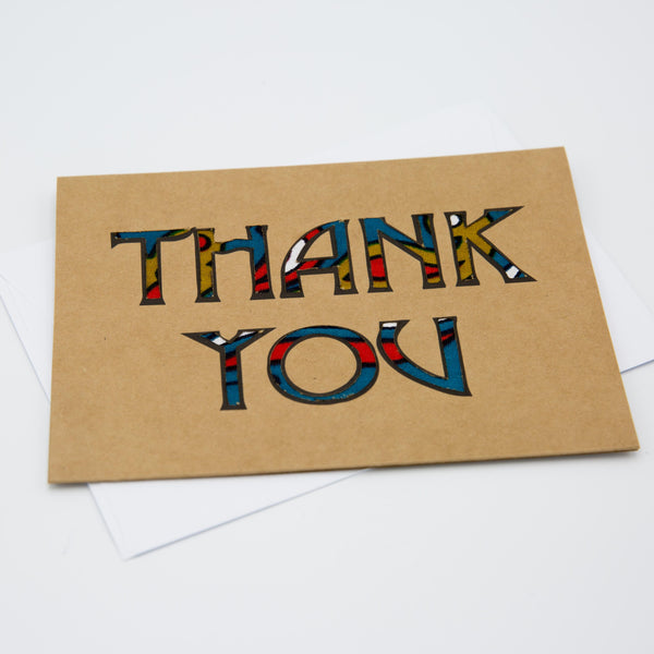 Thank You Card - Kenyan materials and design for a fair trade boutique