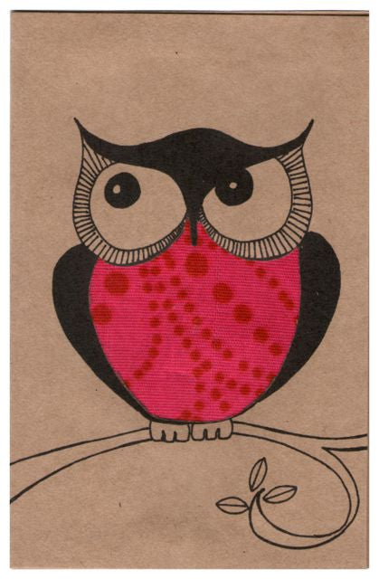 """Owl Always Love You"" Card - Kenyan materials and design for a fair trade boutique"