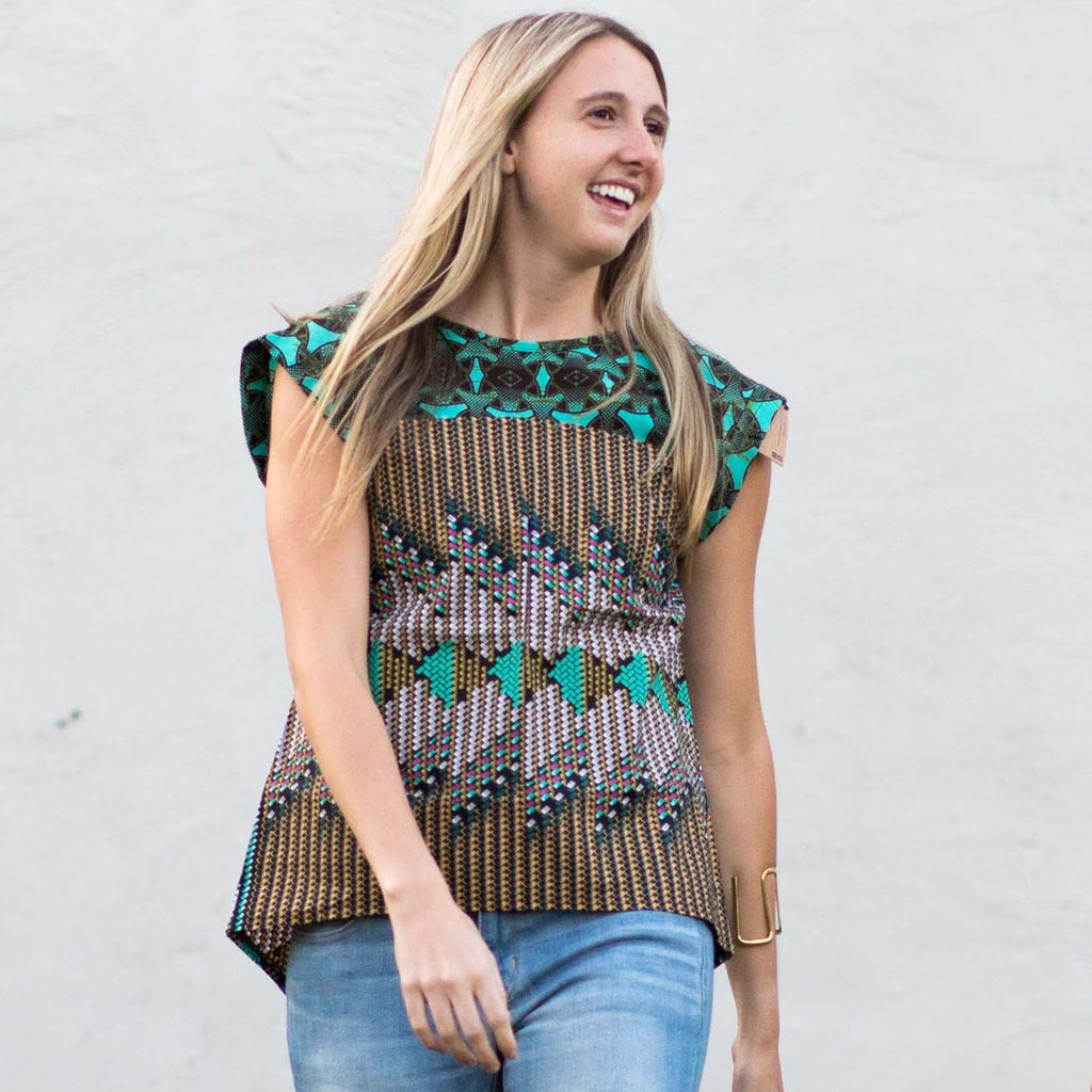 Fuma A-Line Top - Kenyan materials and design for a fair trade boutique