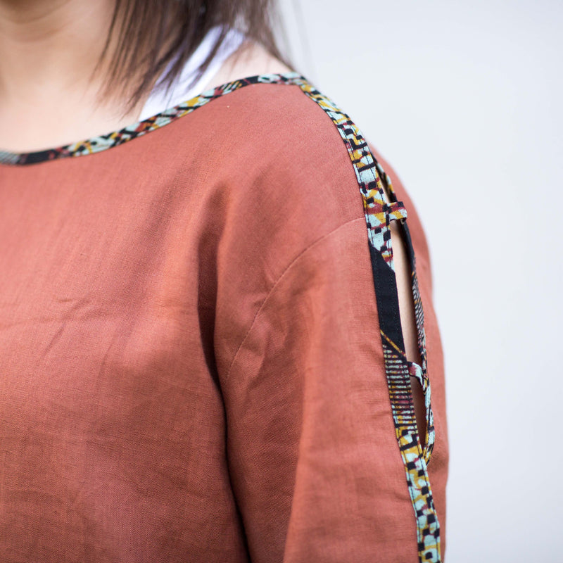 Lattice Sleeve Tunic - Kenyan materials and design for a fair trade boutique