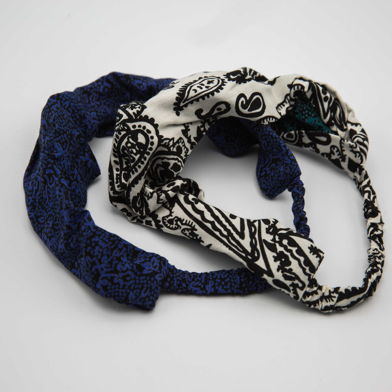 Paisley Headband - Kenyan materials and design for a fair trade boutique