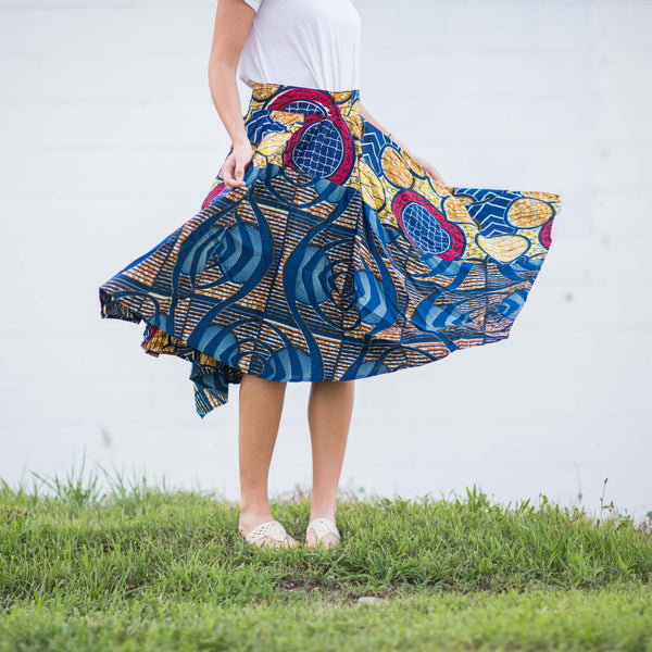 Pinwheel Skirt - Kenyan materials and design for a fair trade boutique