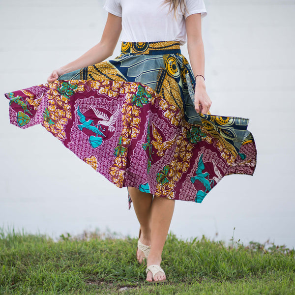 Love Birds Pinwheel Skirt