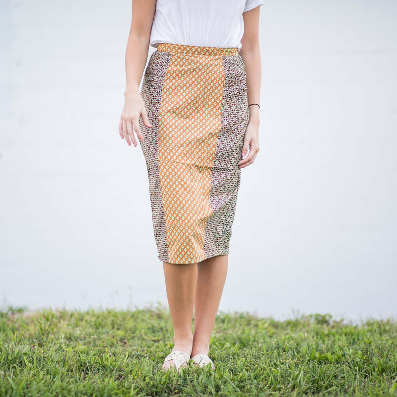 Lapa Pencil Skirt - Kenyan materials and design for a fair trade boutique