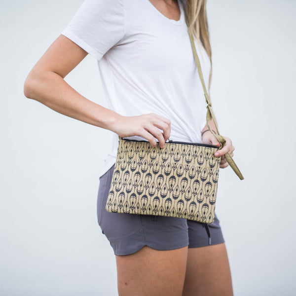 Canvas Crossbody Bag - Kenyan materials and design for a fair trade boutique