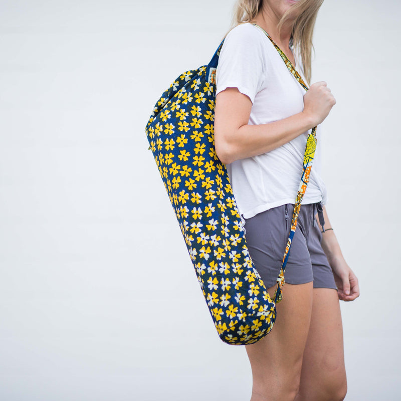 Lapa Yoga Mat Bag - Kenyan materials and design for a fair trade boutique