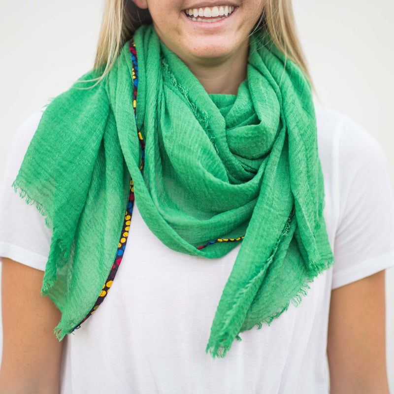 Kitenge Strip Scarf - Kenyan materials and design for a fair trade boutique