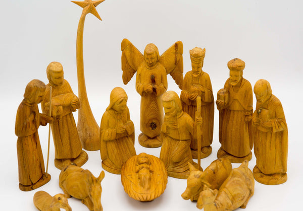 Classic Nativity Set - Kenyan materials and design for a fair trade boutique