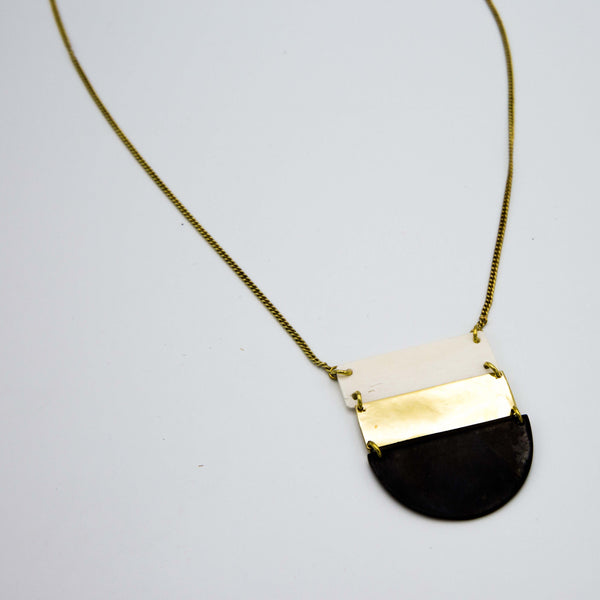 Ladder Necklace - Kenyan materials and design for a fair trade boutique