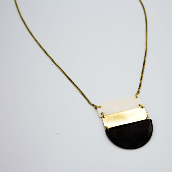 Brass Ladder Pendant Necklace