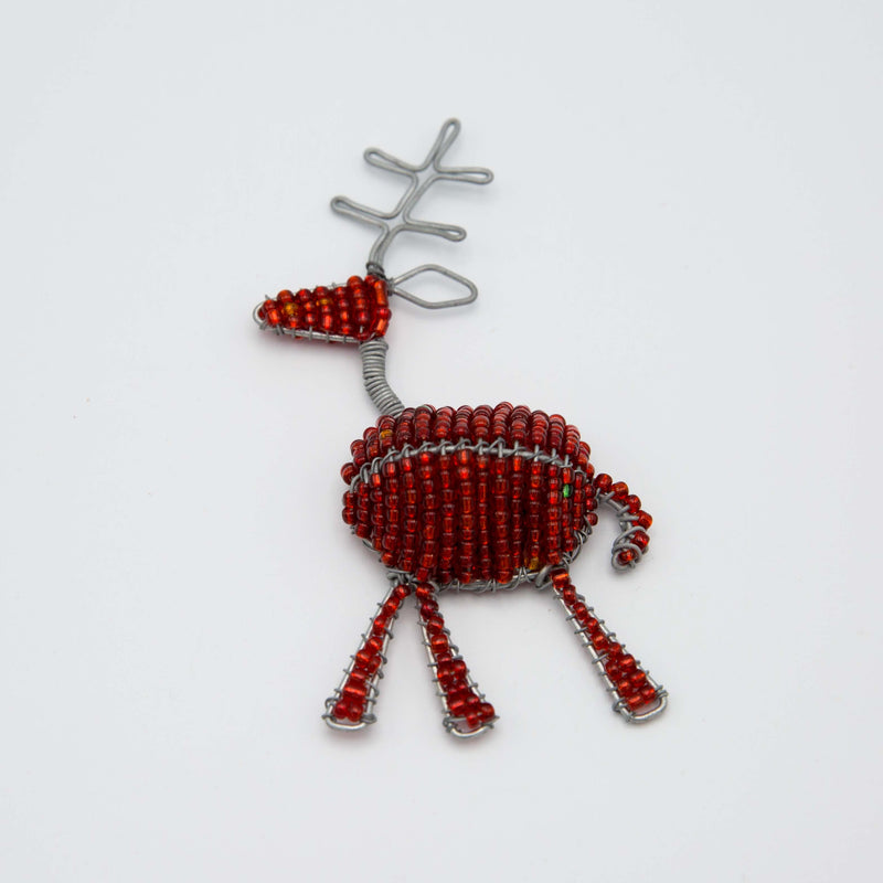 reindeer Christmas Magnet on a white surface