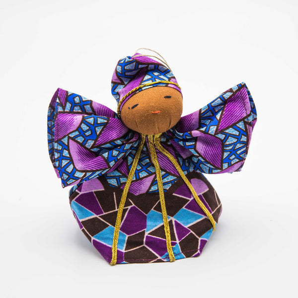 Peace Angel Kitenge Ornament - Kenyan materials and design for a fair trade boutique