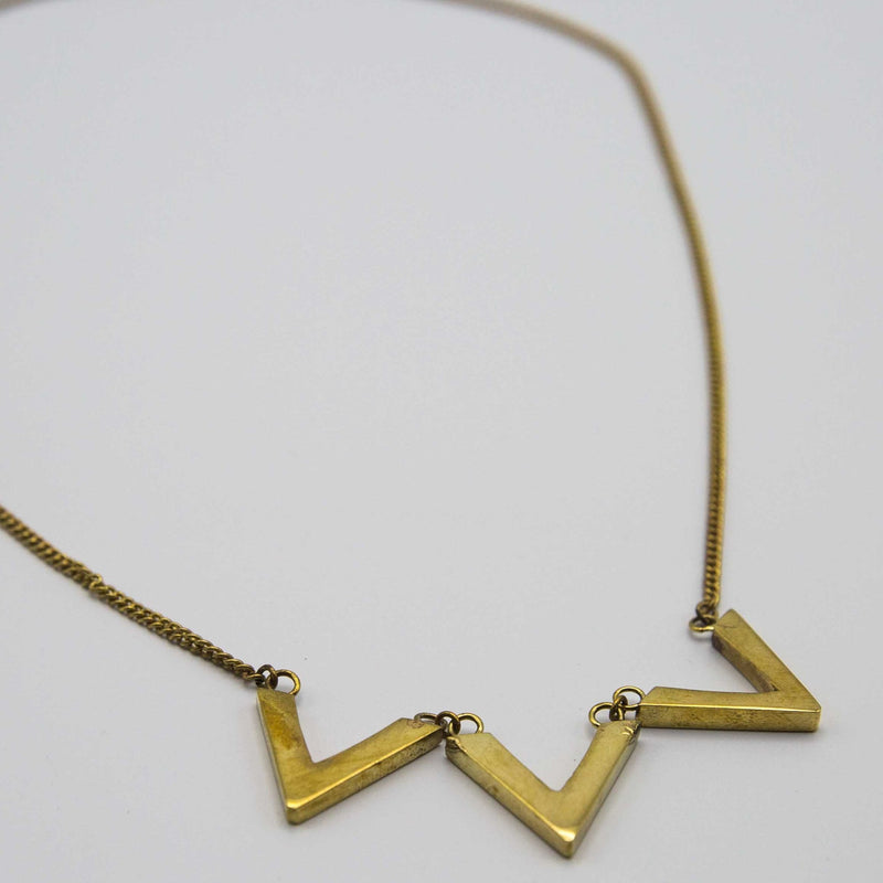 Tri Chevron Necklace - Kenyan materials and design for a fair trade boutique