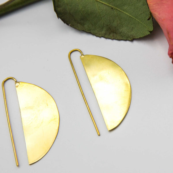 Half Moon Earrings - Kenyan materials and design for a fair trade boutique