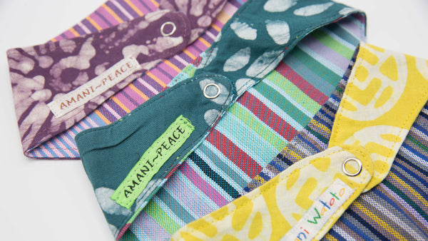 Hanky Bib - Kenyan materials and design for a fair trade boutique