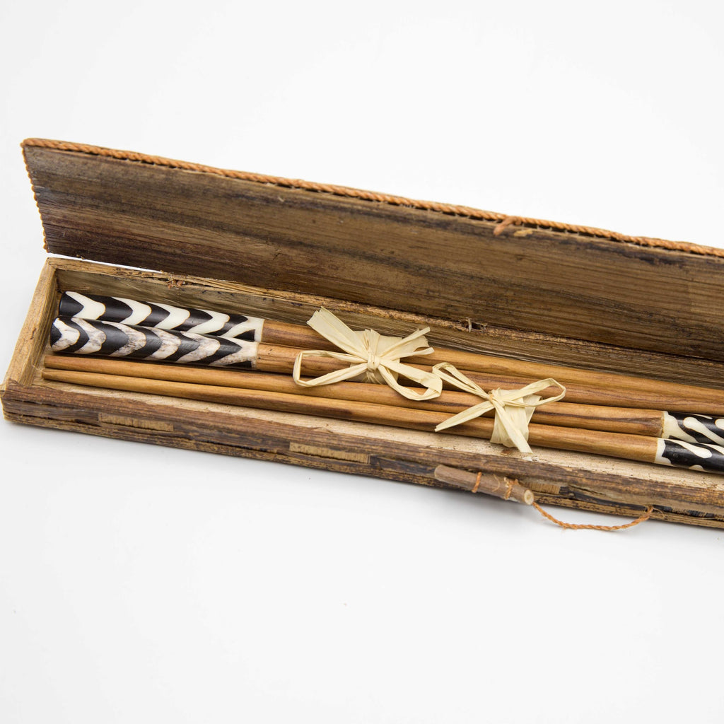 Olivewood & Bone Chopsticks - Kenyan materials and design for a fair trade boutique