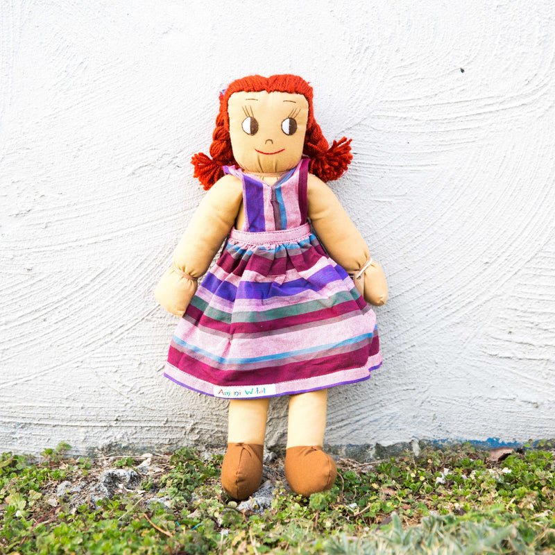 Kikoy Doll - Kenyan materials and design for a fair trade boutique