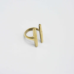 Parallel Bar Ring - Kenyan materials and design for a fair trade boutique