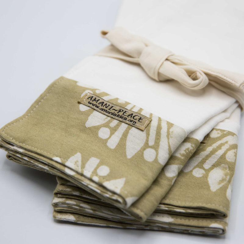 Tea Towel Set | Batik - Kenyan materials and design for a fair trade boutique