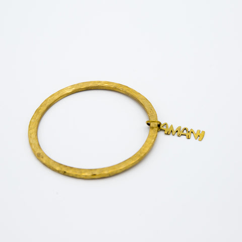 Amani Brass Bangle with Charm