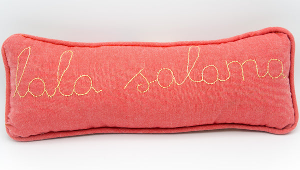 Lala Salama Pillow - Kenyan materials and design for a fair trade boutique