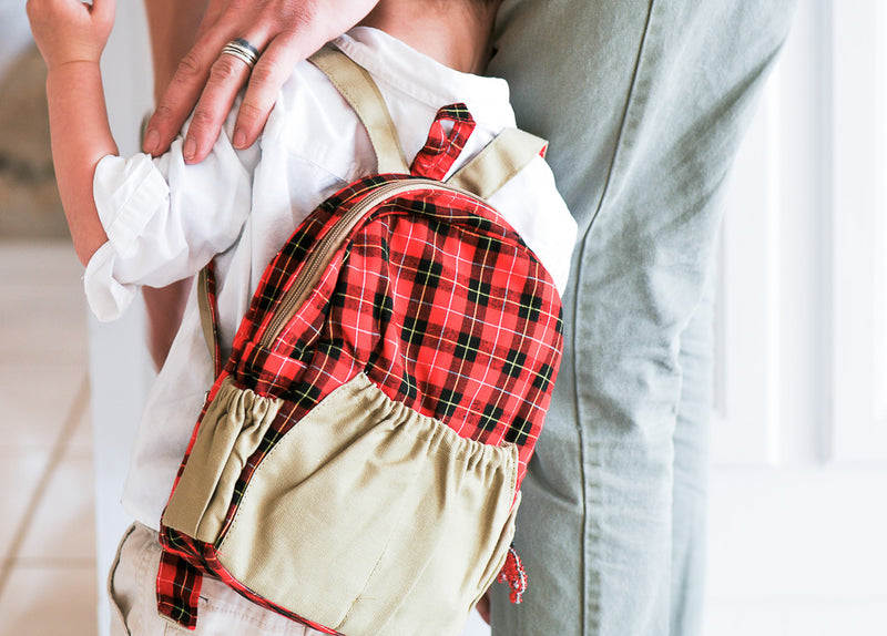 Little Boy's Backpack - Kenyan materials and design for a fair trade boutique