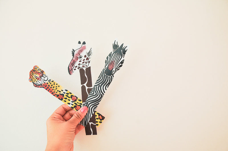 Hand Painted Leather Bookmarks - Kenyan materials and design for a fair trade boutique