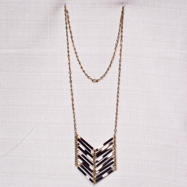Porcupine Quill Necklace - Kenyan materials and design for a fair trade boutique