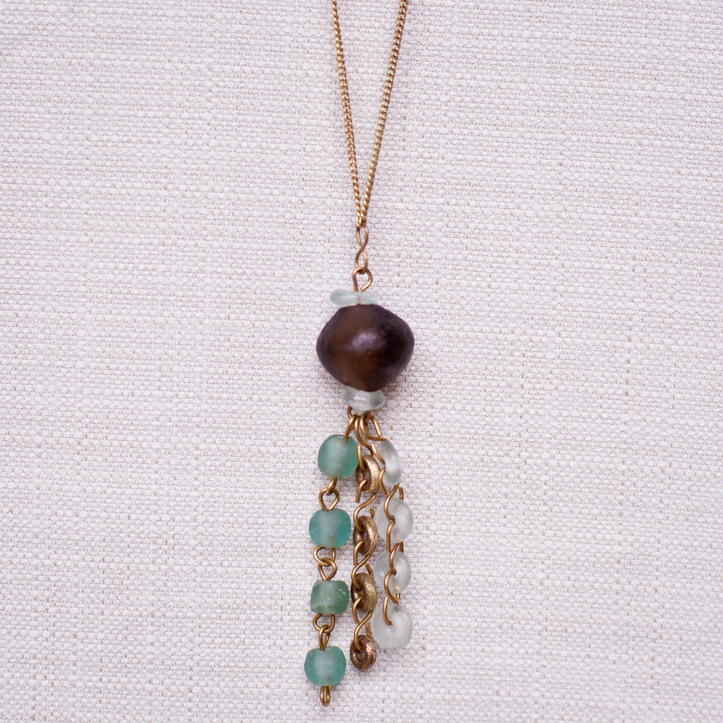 Bottle Bead Pendant Necklace