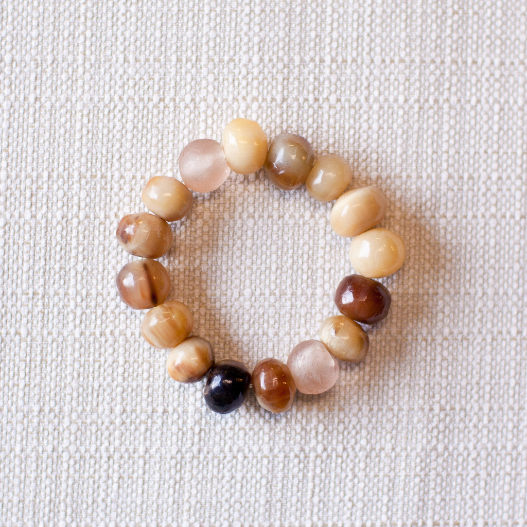 Horn & Bottle Bead Bracelet