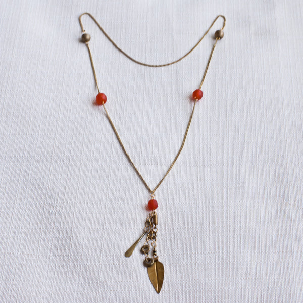 Light Chain Pendant Necklace - Kenyan materials and design for a fair trade boutique