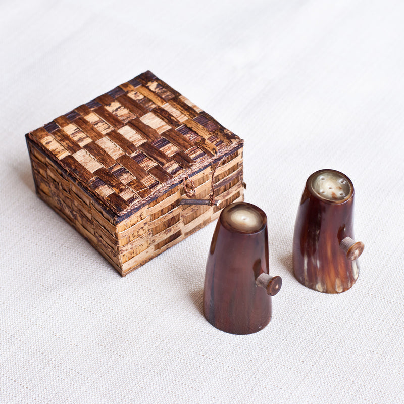 Horn Salt & Pepper Shakers - Kenyan materials and design for a fair trade boutique