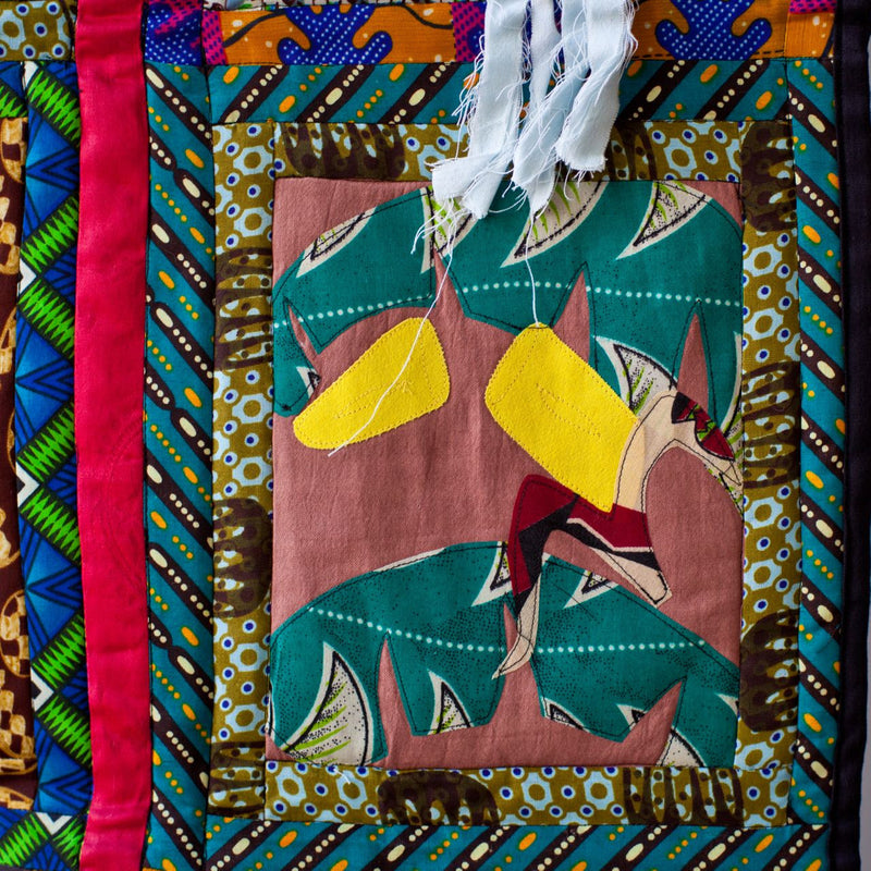 Unity Quilt Wall Hanging - Kenyan materials and design for a fair trade boutique